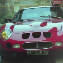 A very very expensive Ferrari GTO in Paris, one of the many trips