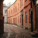 You can almost here the foot steps on the cobbles