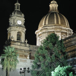 Catania cathedral at night, here lies Vicenzo Bellini