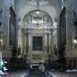 Cool interior of the church