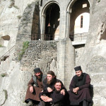 The monks of Vardzia, very wonderful hosts, Georgia