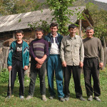 My guides and friends for the day, machete included near Chardaqala, Azerbaijan