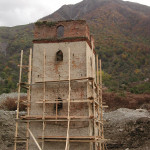19th century tower that Afer was restoring