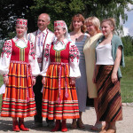My hosts at Ilya Repin's house near Vitebsk in traditional dress, Belarus