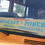 Does what it says on the sign. Braslaw to Minsk