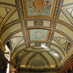 Ornate interior roof, rich in paintings