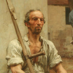 Detail of unknown painting - But what is on his mind?