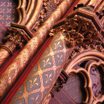 Sainte-Chapelle - riotous colours of gold, red and mauve