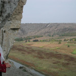 With my guide from the convent in the cave complex at Orhei Vechi, Moldova