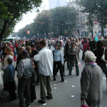 Chisinau was thronging with people