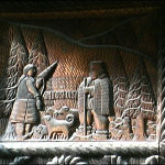 All the carving dates back to the 17th century