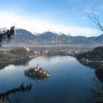 The vista over Lake Bled