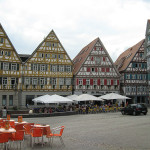 Relaxed town square of Herrenberg