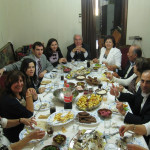 Lunch - Palm Sunday lunch for 14 and special guest (er.........me) Enfeh, Lebanon