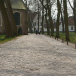 On the way to church in the Beguinage
