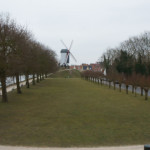 A windmill on the outskirts of the city