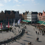 Busy town square