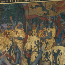 Stadhuis mural depicting victorious return from battle