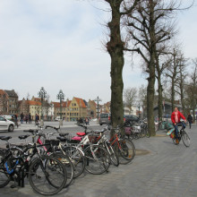 Bicycles in t'Zand square