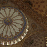 Beautiful interior domes of the Blue Mosque