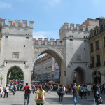A grand entrance - the Karlstor, a gothic gate of the demolished fortification