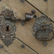 Ornate door furniture by skilled artisan
