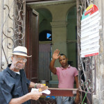 The man behind the counter in Havana, Cuba
