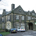 Victorian mansion, now a youth hostel, overlooking Haworth on the wild Pennine moors @ Howarth, Keighley, West Yorkshire, UK
