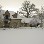 Snowy whiteout in a lovely barn conversion @ Tisbury, near Salisbury, UK