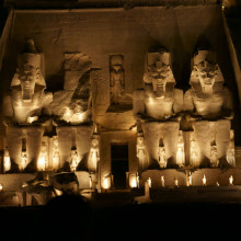 Abu Simbel light show - kings temple