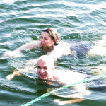 A refreshing swim in the Nile