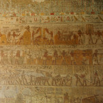 Hieroglyphics in the first tomb of the trip