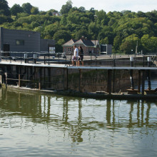 Walking over the Bristol Locks
