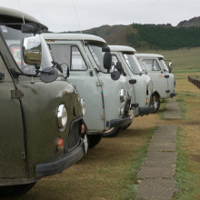 Fleet of Furgons ready for action