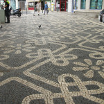 Traditional to the region - tiled floor patterns