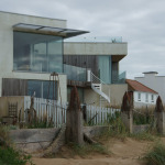 Contemporary architecture on the beach