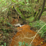 MInerals oxides colouring the waters