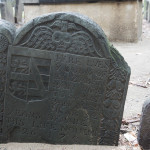 Wonderful old grave carving