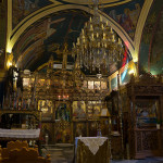 Interior of one of the many Orthodox churches