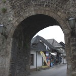 Jajce town gate with great restaurant above