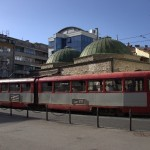 One of the many trams