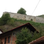 Looking up at Travnik fortress