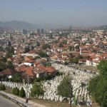 Looking down on Sarajevo