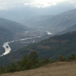 Looking down on Gorazde