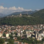 Trebinje with the Orthodox Church high up on the hill